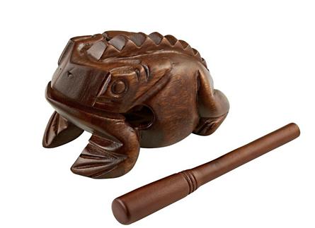 wooden frog