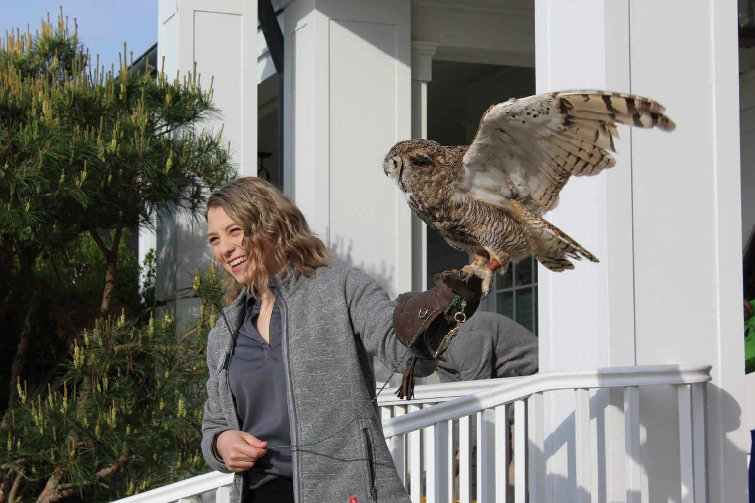 Renee with Owl
