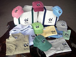 QWR Embroidered hats and shirts